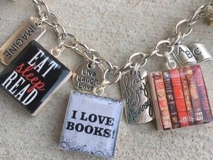 Book Lover Charm Bracelet