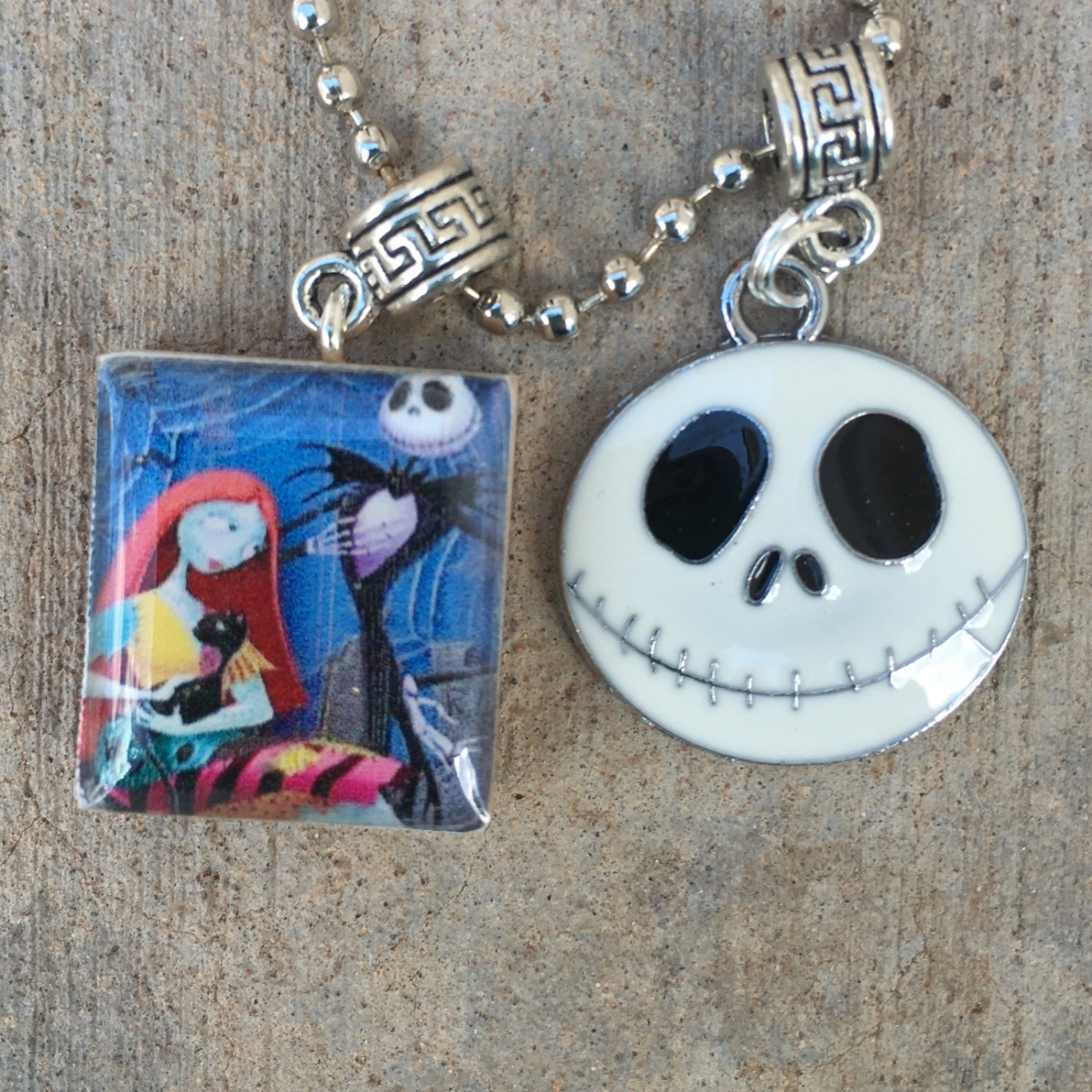 Nightmare Before Christmas Charm Necklace Simply Meant to Be ...